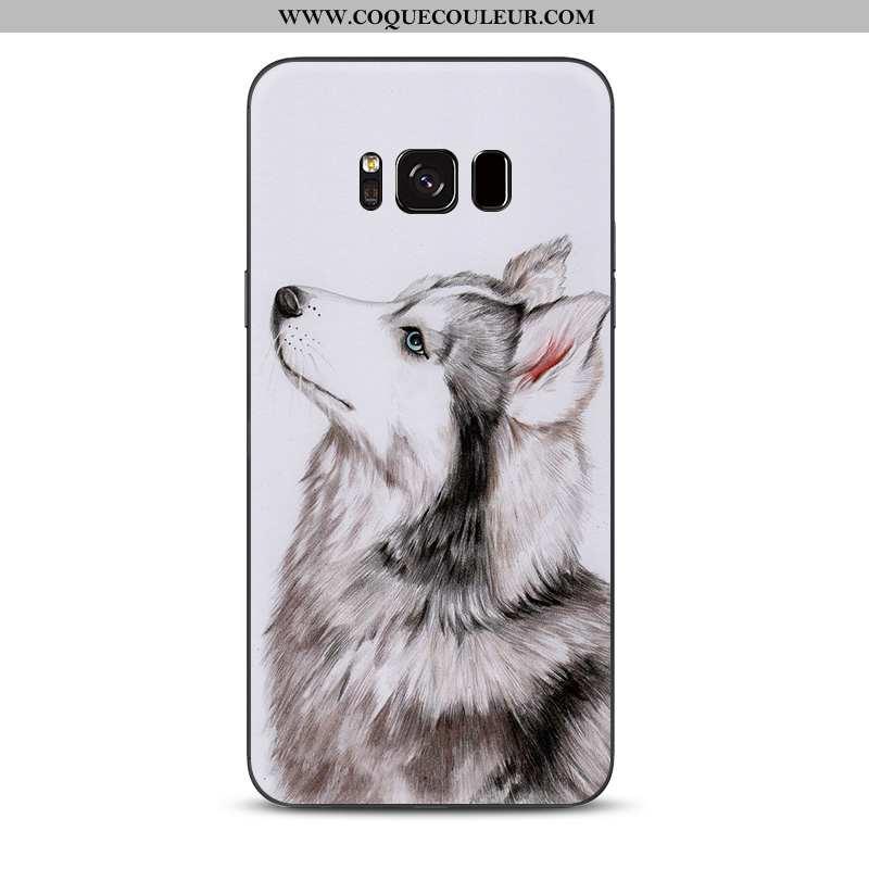 Housse Samsung Galaxy S8 Charmant Animal Étoile, Étui Samsung Galaxy S8 Tendance Chiens Gris
