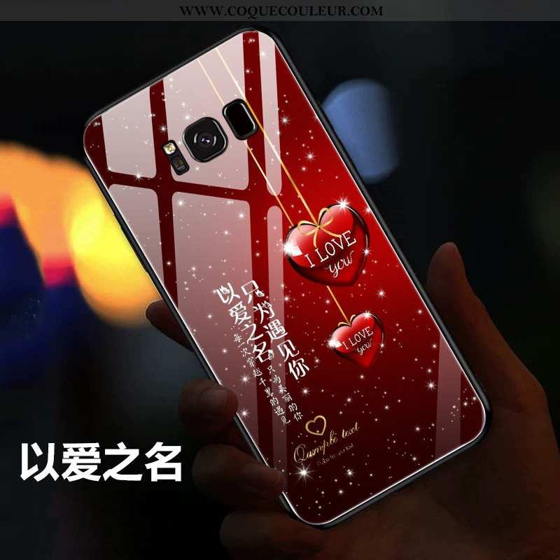 Étui Samsung Galaxy S8 Légère Personnalité Créatif, Coque Samsung Galaxy S8 Silicone Étoile Rouge