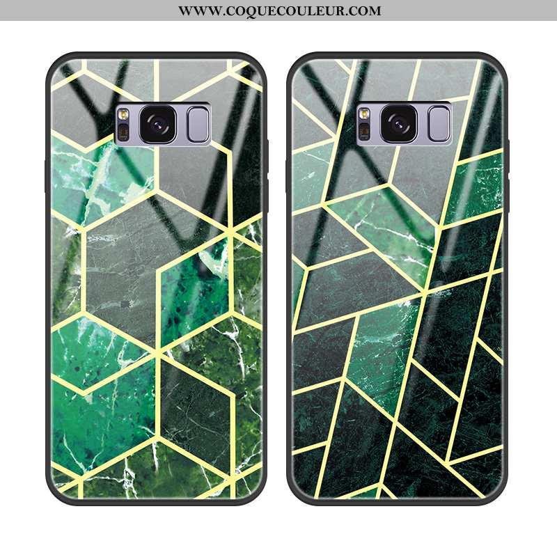Housse Samsung Galaxy S8 Verre Incassable Modèle Fleurie, Étui Samsung Galaxy S8 Personnalité Étoile