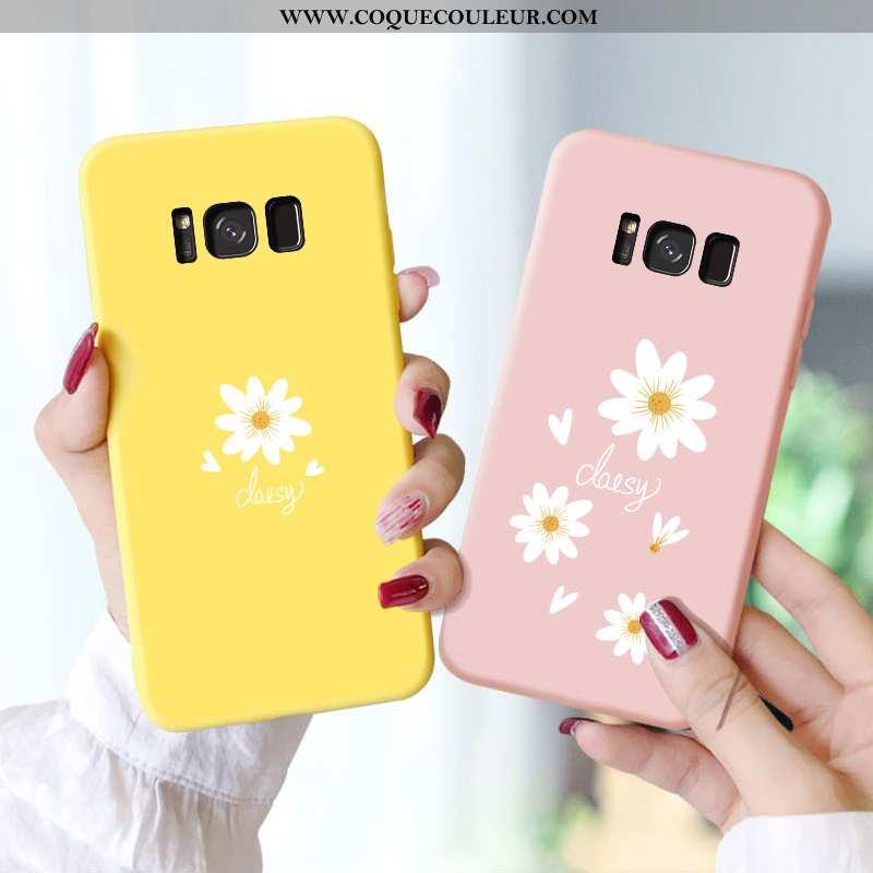 Housse Samsung Galaxy S8 Personnalité Étoile Incassable, Étui Samsung Galaxy S8 Créatif Légère Jaune