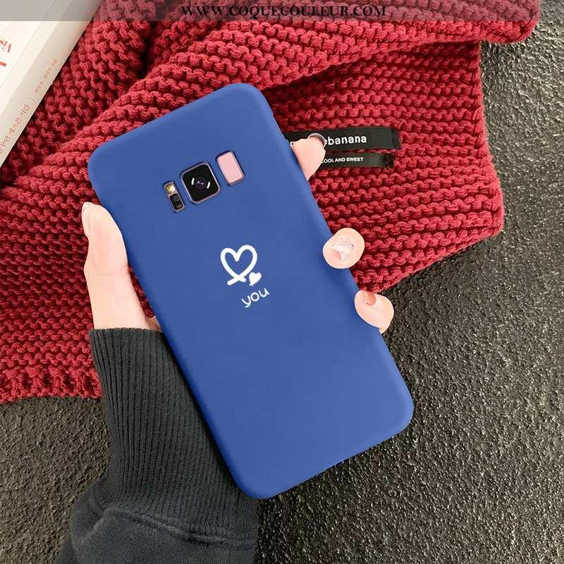 Housse Samsung Galaxy S8 Silicone Étoile Amoureux, Étui Samsung Galaxy S8 Protection Légère Bleu