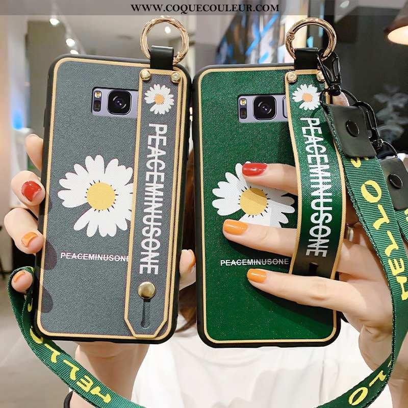 Coque Samsung Galaxy S8 Fluide Doux Étoile Vert, Housse Samsung Galaxy S8 Ornements Suspendus Tout C