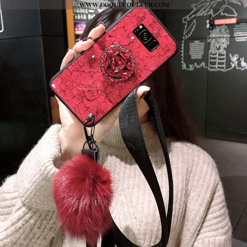 Étui Samsung Galaxy S8 Fluide Doux Coque Ultra, Samsung Galaxy S8 Silicone Violet Rouge