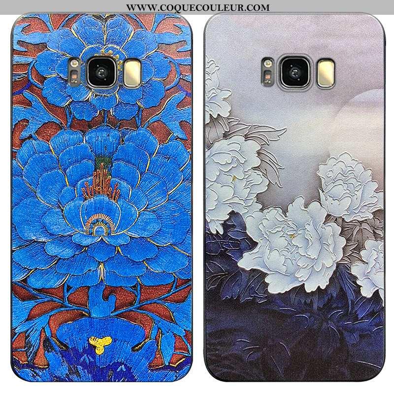 Étui Samsung Galaxy S8 Créatif Luxe Tout Compris, Coque Samsung Galaxy S8 Ultra Nouveau Bleu