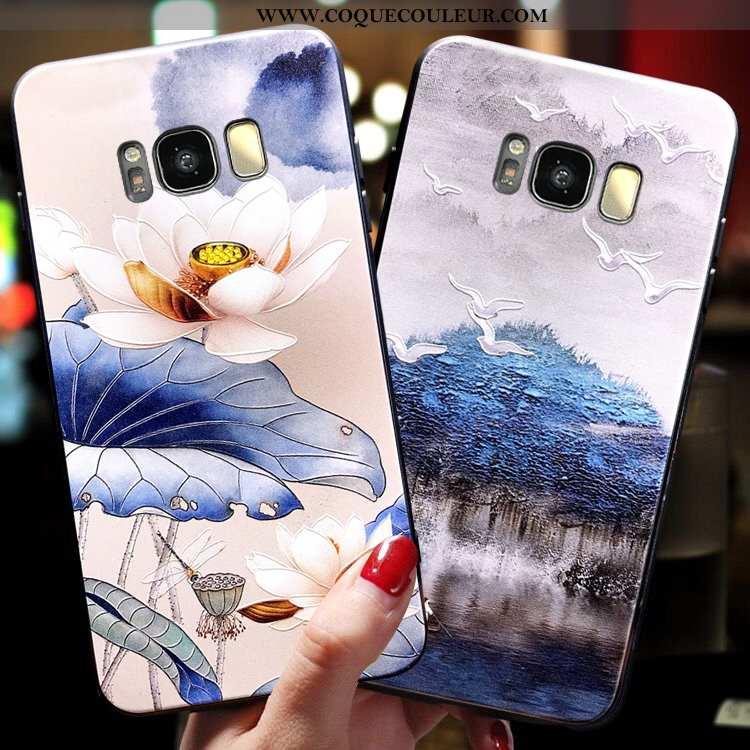 Housse Samsung Galaxy S8 Silicone Bleu Nouveau, Étui Samsung Galaxy S8 Protection Support