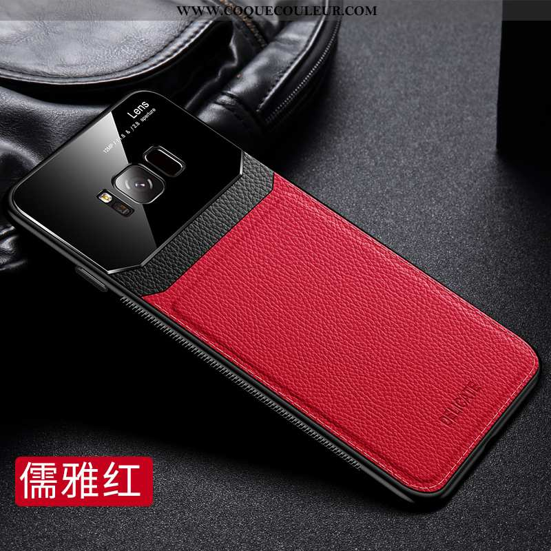 Étui Samsung Galaxy S8 Cuir Véritable Silicone Protection, Coque Samsung Galaxy S8 Tendance Téléphon