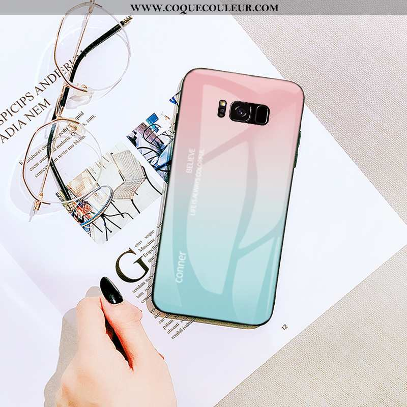 Coque Samsung Galaxy S8 Dessin Animé Vent Tout Compris, Housse Samsung Galaxy S8 Tendance Rose