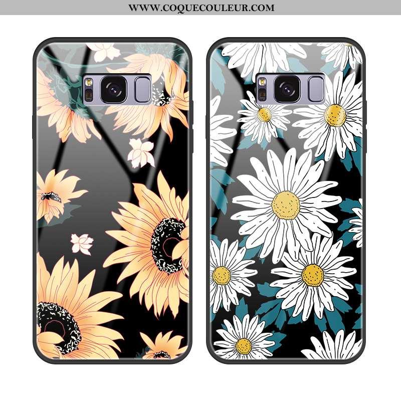 Coque Samsung Galaxy S8 Cuir Tournesol Incassable, Housse Samsung Galaxy S8 Protection Noir