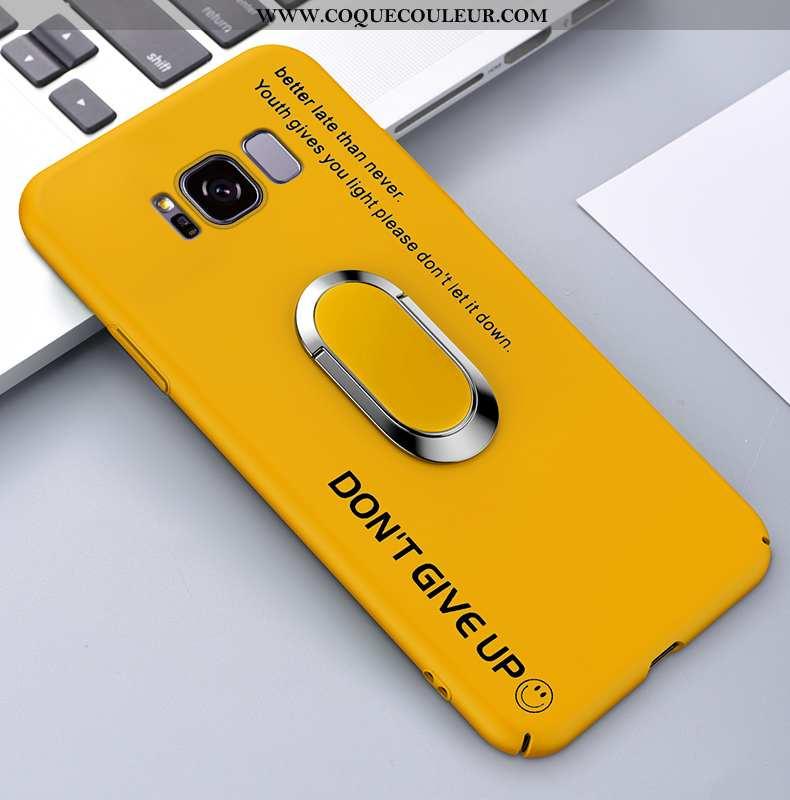 Coque Samsung Galaxy S8 Protection Incassable Support, Housse Samsung Galaxy S8 Délavé En Daim Jaune