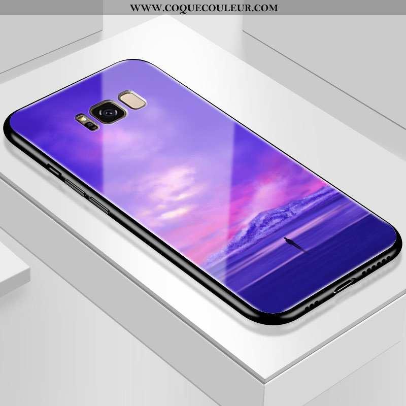 Coque Samsung Galaxy S8 Personnalité Téléphone Portable Verre, Housse Samsung Galaxy S8 Créatif Étoi