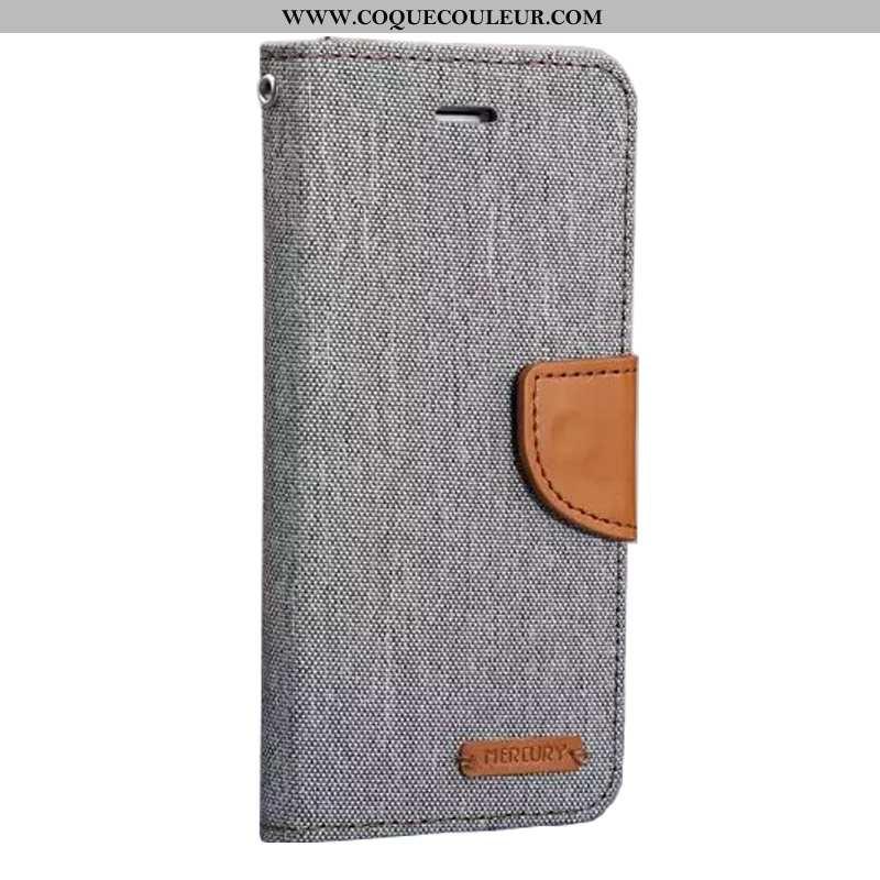 Coque Samsung Galaxy S8 Cuir Étui, Housse Samsung Galaxy S8 Protection Téléphone Portable Gris