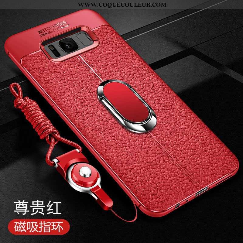 Housse Samsung Galaxy S8 Légère Étui Fluide Doux, Samsung Galaxy S8 Cuir Ultra Rouge