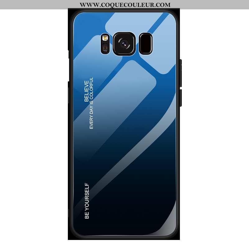 Housse Samsung Galaxy S8+ Personnalité Légère Verre, Étui Samsung Galaxy S8+ Créatif Incassable Bleu