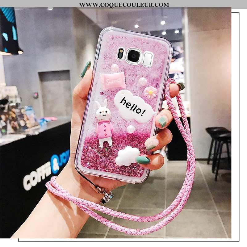 Housse Samsung Galaxy S8+ Silicone Étoile Coque, Étui Samsung Galaxy S8+ Protection Tout Compris Ros