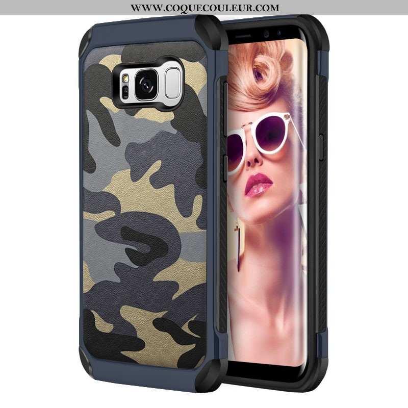 Étui Samsung Galaxy S8+ Personnalité Silicone Camouflage, Coque Samsung Galaxy S8+ Tendance Tout Com