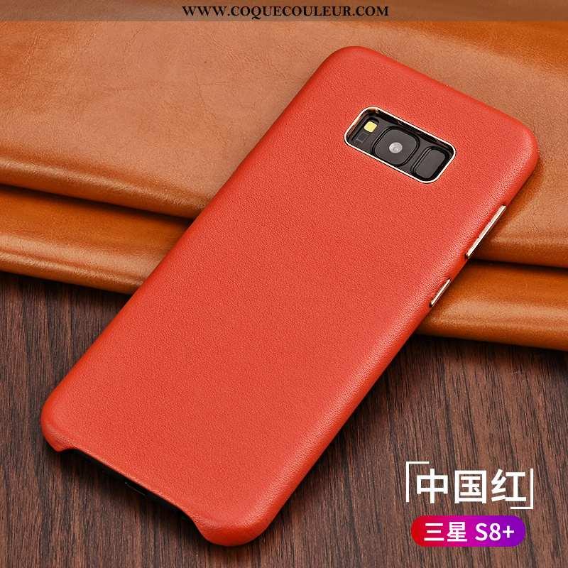 Étui Samsung Galaxy S8+ Protection Nouveau Téléphone Portable, Coque Samsung Galaxy S8+ Cuir Véritab