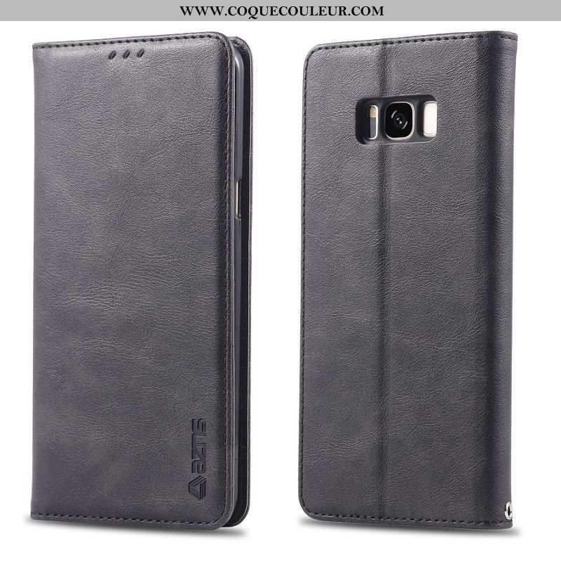 Housse Samsung Galaxy S8+ Protection Noir Étoile, Étui Samsung Galaxy S8+ Portefeuille
