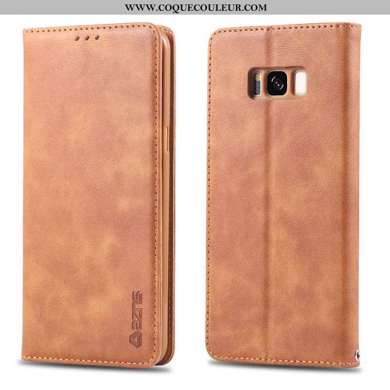 Coque Samsung Galaxy S8+ Protection Housse Business, Samsung Galaxy S8+ Cuir Incassable Khaki