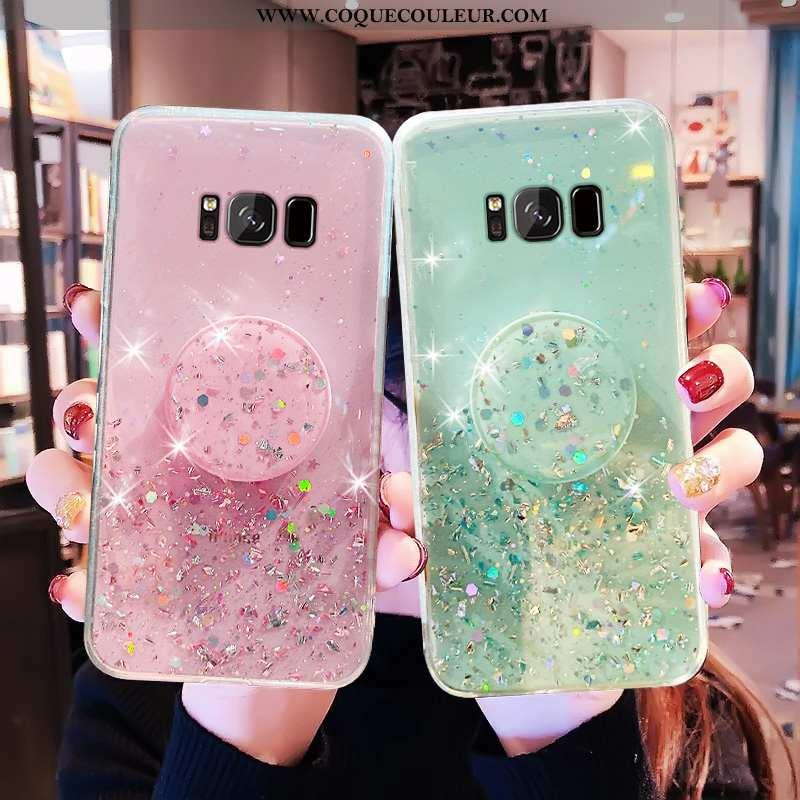 Housse Samsung Galaxy S8+ Luxe Protection Vert, Étui Samsung Galaxy S8+ Transparent Coque Verte