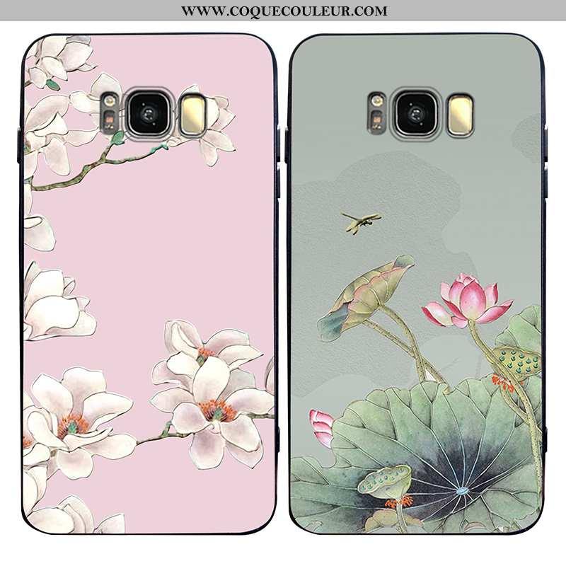 Étui Samsung Galaxy S8+ Tendance Téléphone Portable Fleur, Coque Samsung Galaxy S8+ Légère Style Chi
