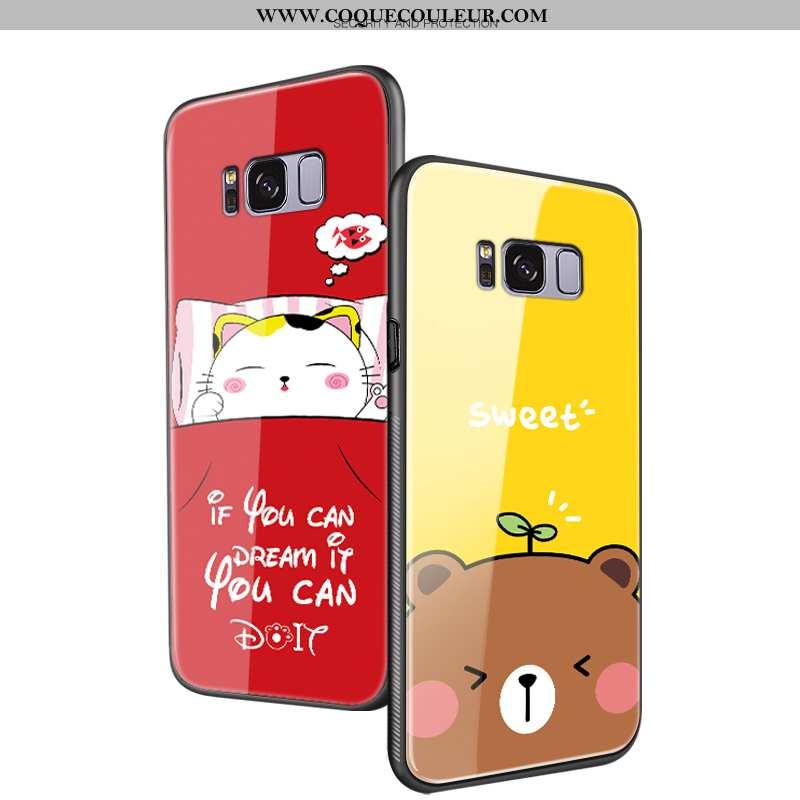 Étui Samsung Galaxy S8+ Tendance Dessin Animé, Coque Samsung Galaxy S8+ Protection Frais Jaune