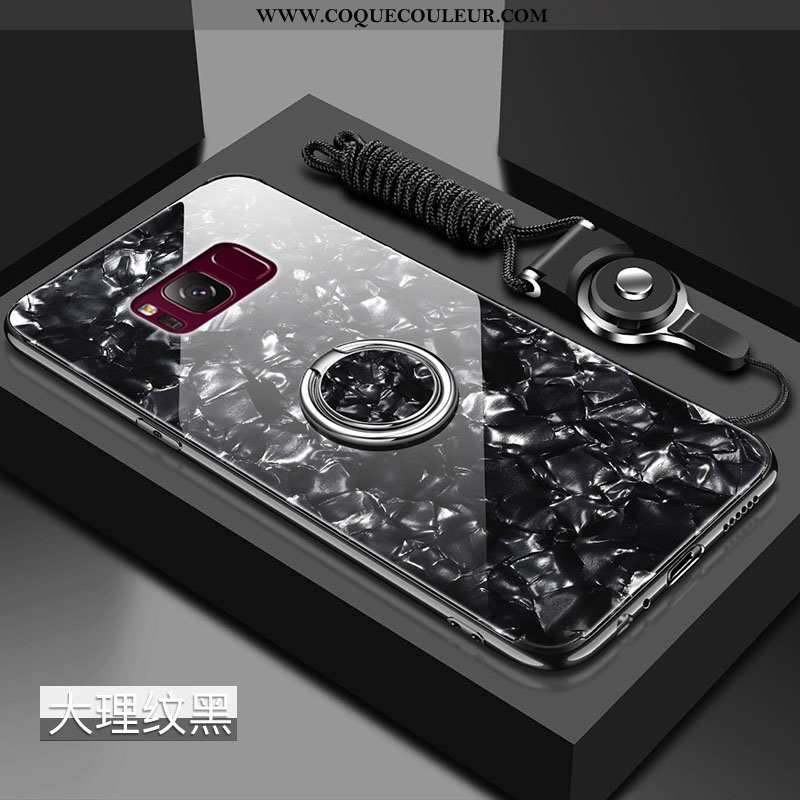 Housse Samsung Galaxy S8+ Protection Coquille Incassable, Étui Samsung Galaxy S8+ Verre Tendance Noi