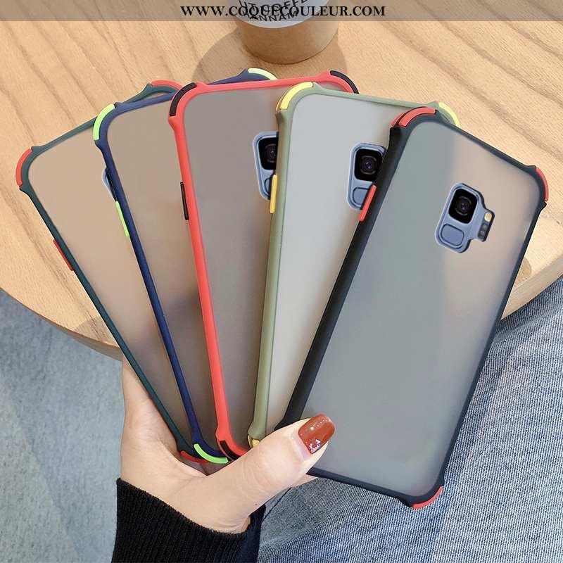 Coque Samsung Galaxy S9 Créatif Fluide Doux Délavé En Daim, Housse Samsung Galaxy S9 Tendance Noir