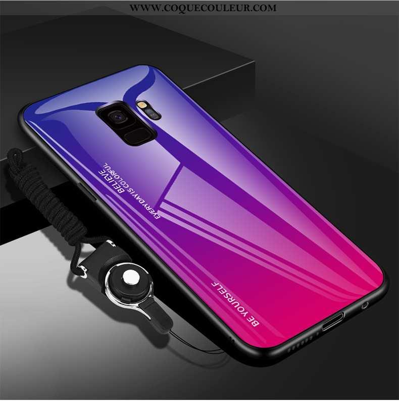 Étui Samsung Galaxy S9 Légère Coque Protection, Samsung Galaxy S9 Fluide Doux Ornements Suspendus Vi