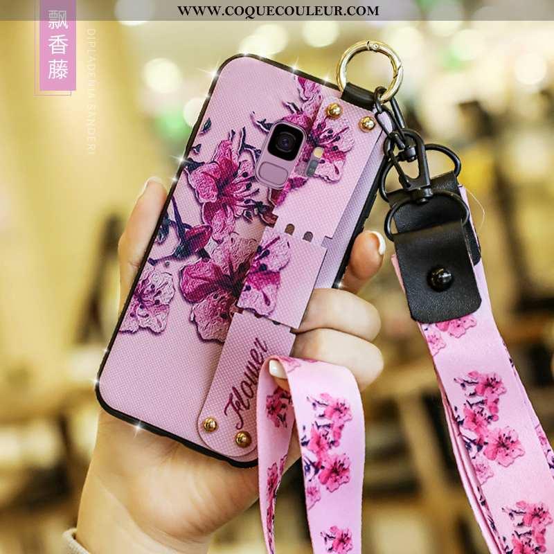 Coque Samsung Galaxy S9 Fluide Doux Protection Créatif, Housse Samsung Galaxy S9 Silicone Incassable