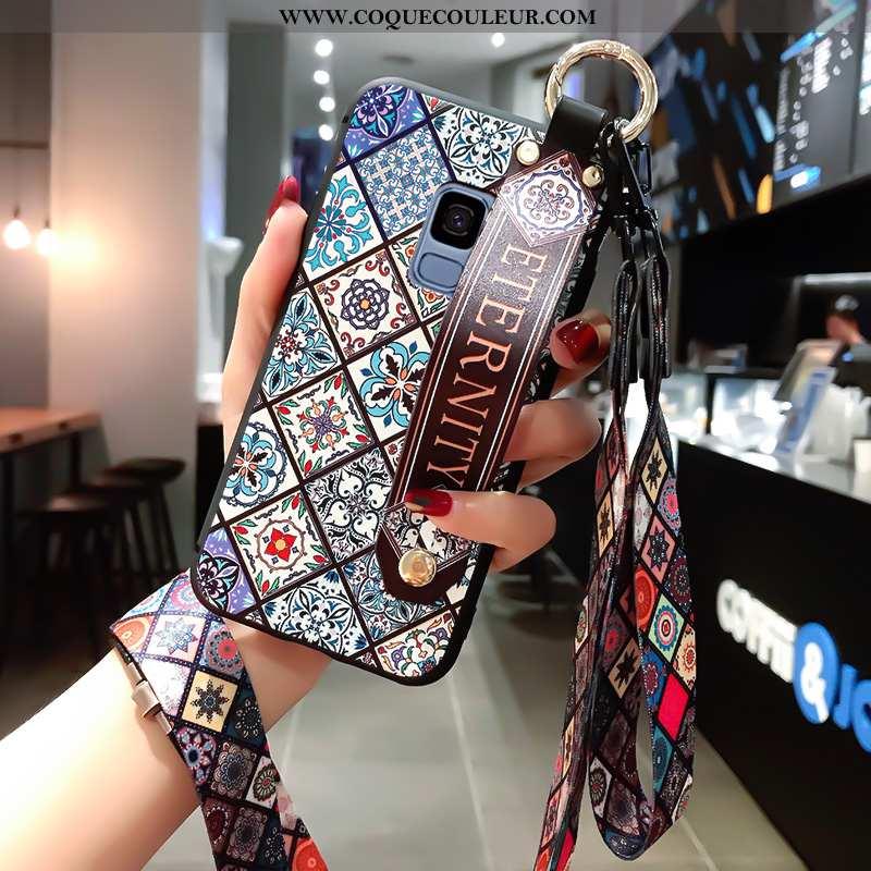 Coque Samsung Galaxy S9 Silicone Fluide Doux Coque, Housse Samsung Galaxy S9 Protection Bleu