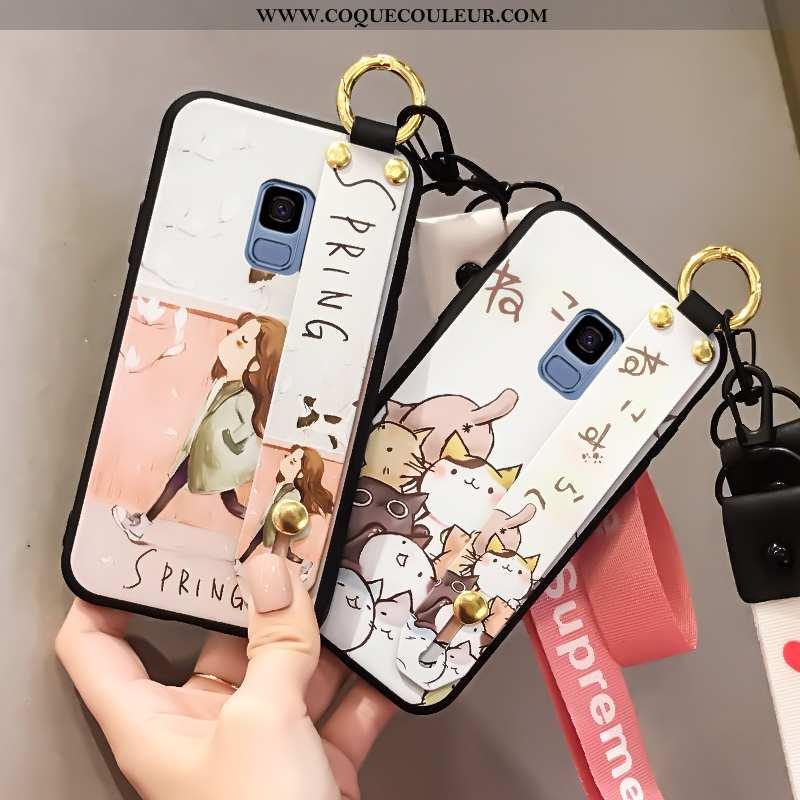 Housse Samsung Galaxy S9 Silicone Créatif Protection, Étui Samsung Galaxy S9 Mode Blanc Blanche