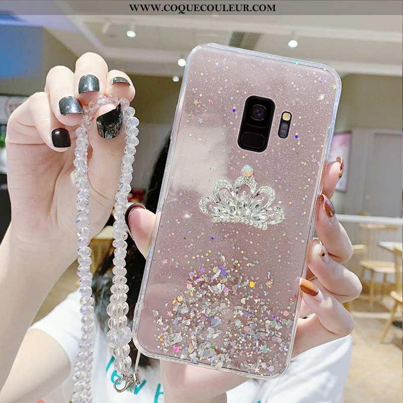 Housse Samsung Galaxy S9 Protection Mode Étui, Étui Samsung Galaxy S9 Incruster Strass Téléphone Por