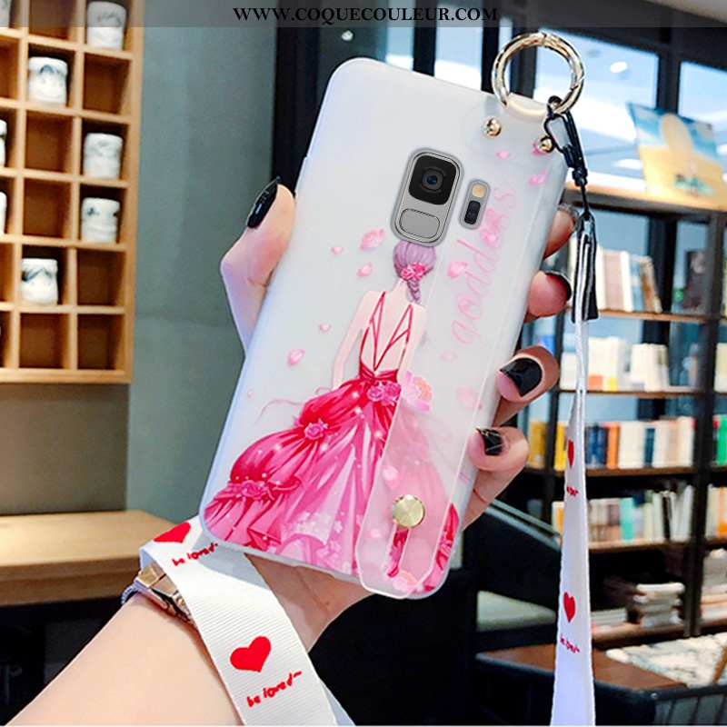 Housse Samsung Galaxy S9 Créatif Étui Téléphone Portable, Samsung Galaxy S9 Protection Coque Rose
