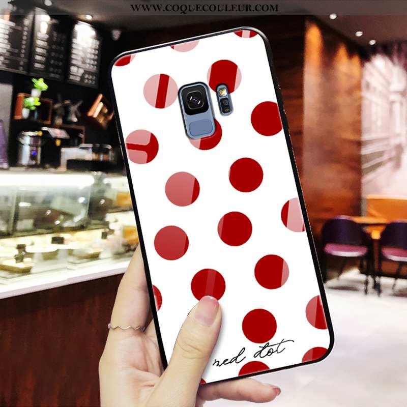 Étui Samsung Galaxy S9 Verre Téléphone Portable Miroir, Coque Samsung Galaxy S9 Personnalité Nouveau