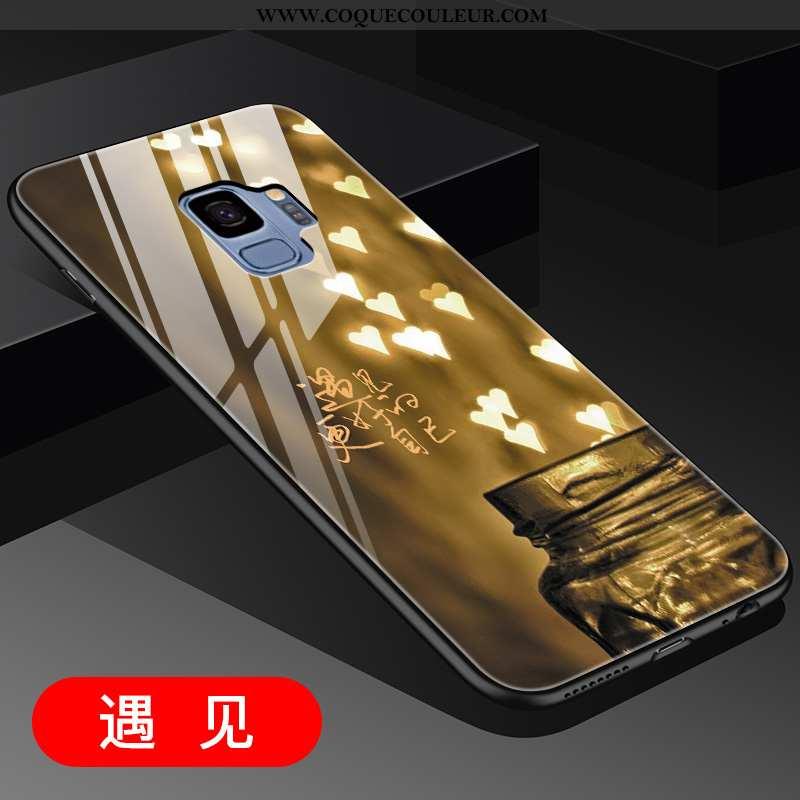 Housse Samsung Galaxy S9 Créatif Tout Compris Incassable, Étui Samsung Galaxy S9 Verre Téléphone Por