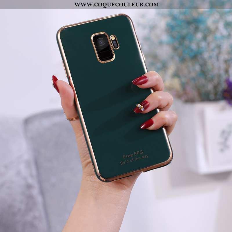 Coque Samsung Galaxy S9 Fluide Doux Légère Ultra, Housse Samsung Galaxy S9 Silicone Incassable Verte