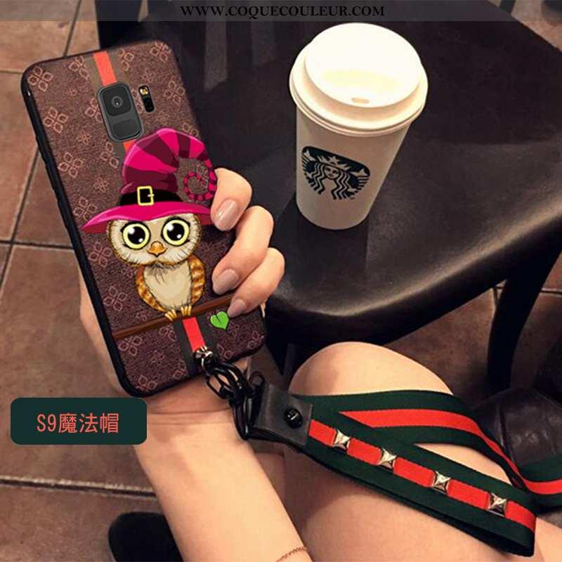 Coque Samsung Galaxy S9 Cou Suspendu Téléphone Portable Nouveau, Housse Samsung Galaxy S9 Tendance M