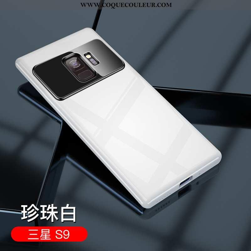 Housse Samsung Galaxy S9 Verre Ultra Blanc, Étui Samsung Galaxy S9 Personnalité Créatif Blanche