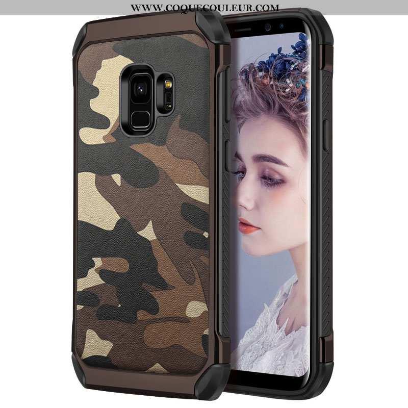 Étui Samsung Galaxy S9 Silicone Personnalité Coque, Coque Samsung Galaxy S9 Protection Khaki