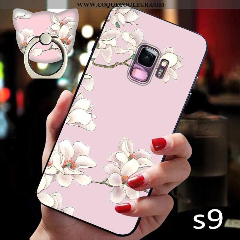 Étui Samsung Galaxy S9 Personnalité Ultra Téléphone Portable, Coque Samsung Galaxy S9 Créatif Anneau