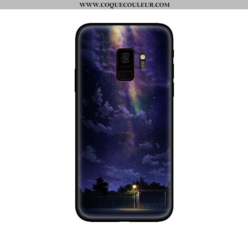 Housse Samsung Galaxy S9 Fluide Doux Étoile Protection, Étui Samsung Galaxy S9 Silicone Téléphone Po