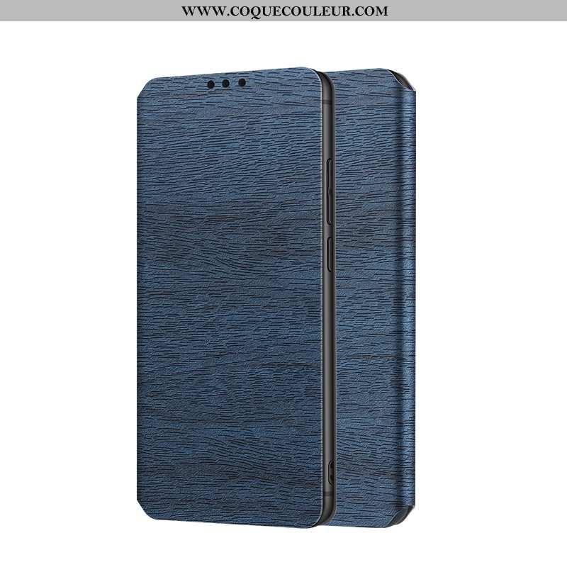 Housse Samsung Galaxy S9+ Cuir Téléphone Portable Bleu, Étui Samsung Galaxy S9+ Protection Tout Comp
