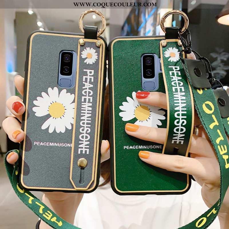 Housse Samsung Galaxy S9+ Fluide Doux Simple Téléphone Portable, Étui Samsung Galaxy S9+ Silicone Pe