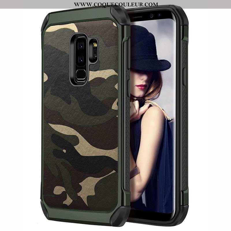 Housse Samsung Galaxy S9+ Tendance Camouflage Incassable, Étui Samsung Galaxy S9+ Fluide Doux Coque