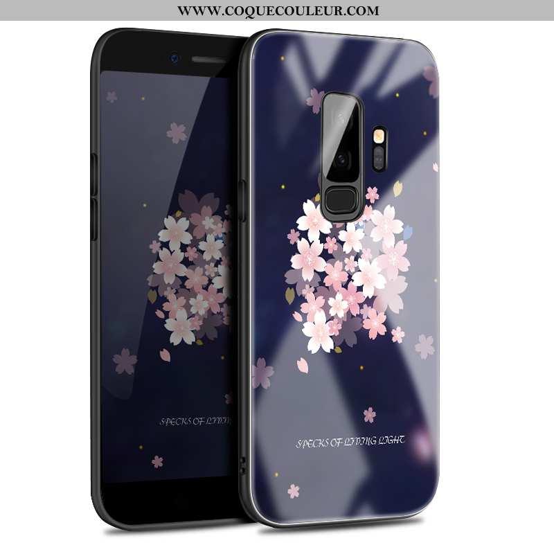 Housse Samsung Galaxy S9+ Ornements Suspendus Téléphone Portable Bleu Marin, Étui Samsung Galaxy S9+