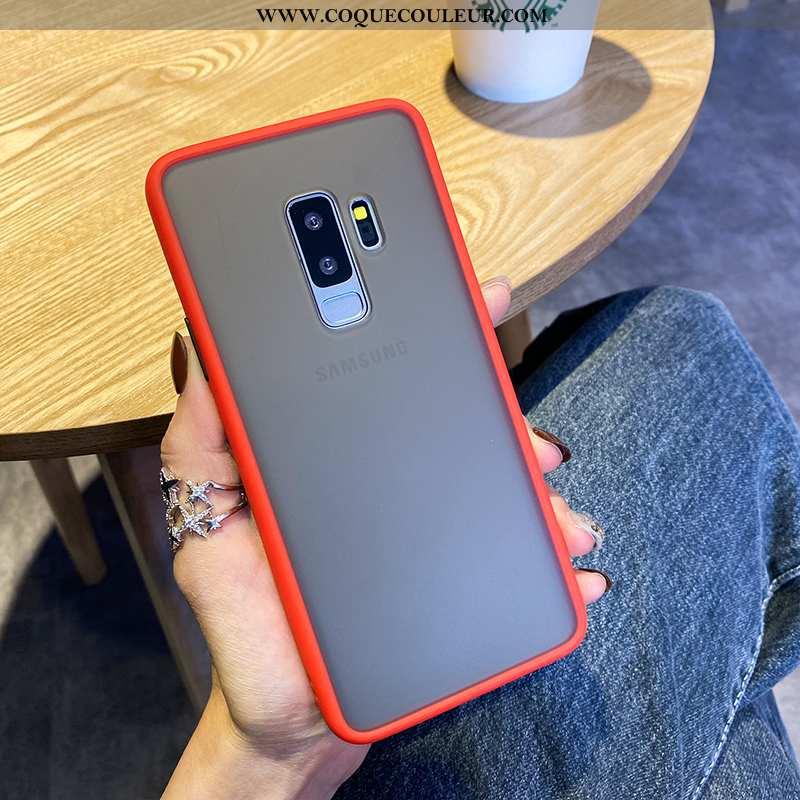 Housse Samsung Galaxy S9+ Créatif Étoile Incassable, Étui Samsung Galaxy S9+ Silicone Nouveau Rouge