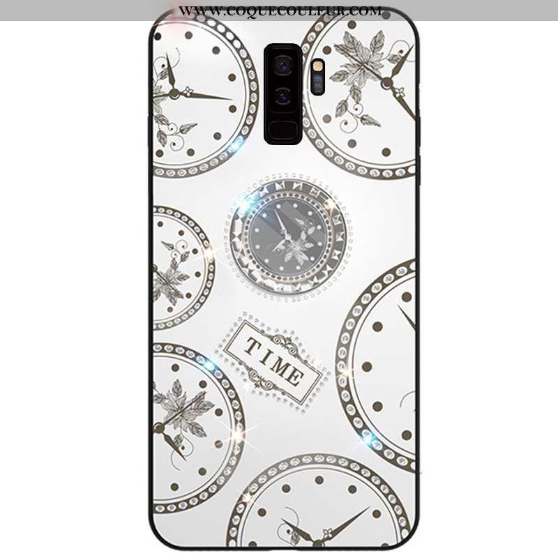 Étui Samsung Galaxy S9+ Fluide Doux Incassable Anneau, Coque Samsung Galaxy S9+ Silicone Tout Compri
