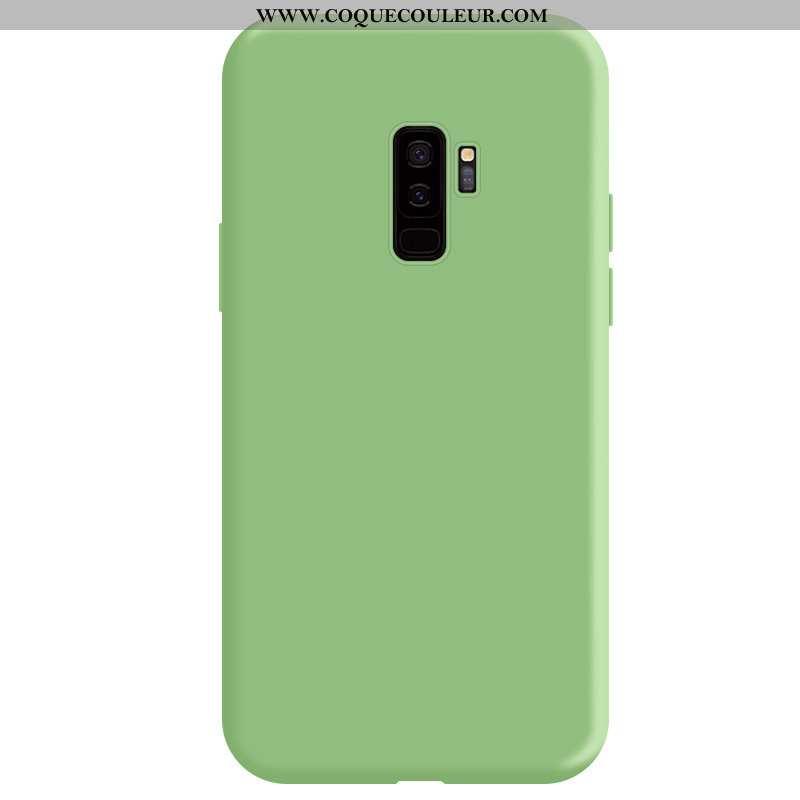 Coque Samsung Galaxy S9+ Silicone Étui Net Rouge, Housse Samsung Galaxy S9+ Protection Incassable Ve