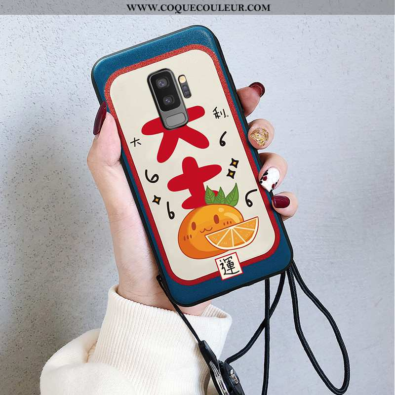 Étui Samsung Galaxy S9+ Dessin Animé Coque Grand, Samsung Galaxy S9+ Charmant Téléphone Portable Ble