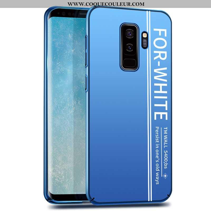 Étui Samsung Galaxy S9+ Délavé En Daim Coque, Coque Samsung Galaxy S9+ Personnalité Étoile Bleu